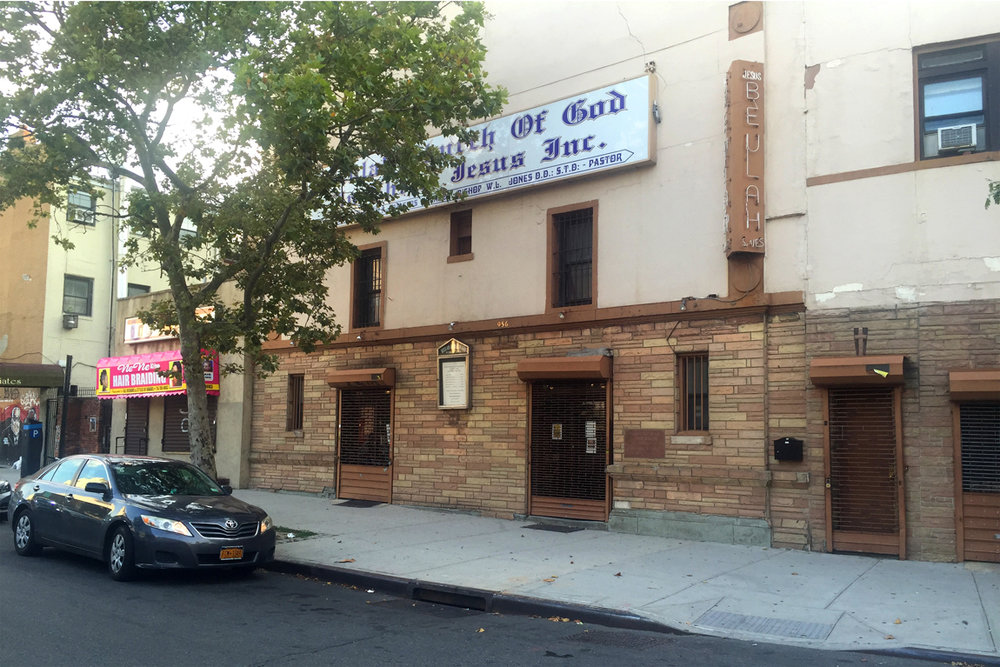 Image 4 / Beulah Church of God in Christ, the former Marcy Cinema, Marcy Ave., Photograph by Lane Rick