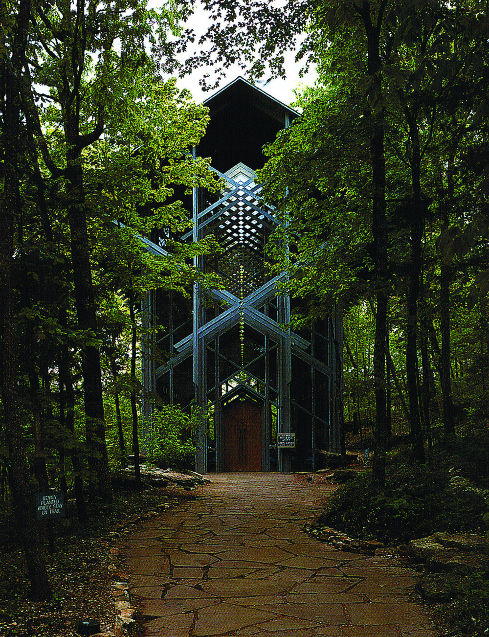 Image 1: Thorncrown Chapel, Fay Jones, 1980, Photograph by Timothy Hursley
