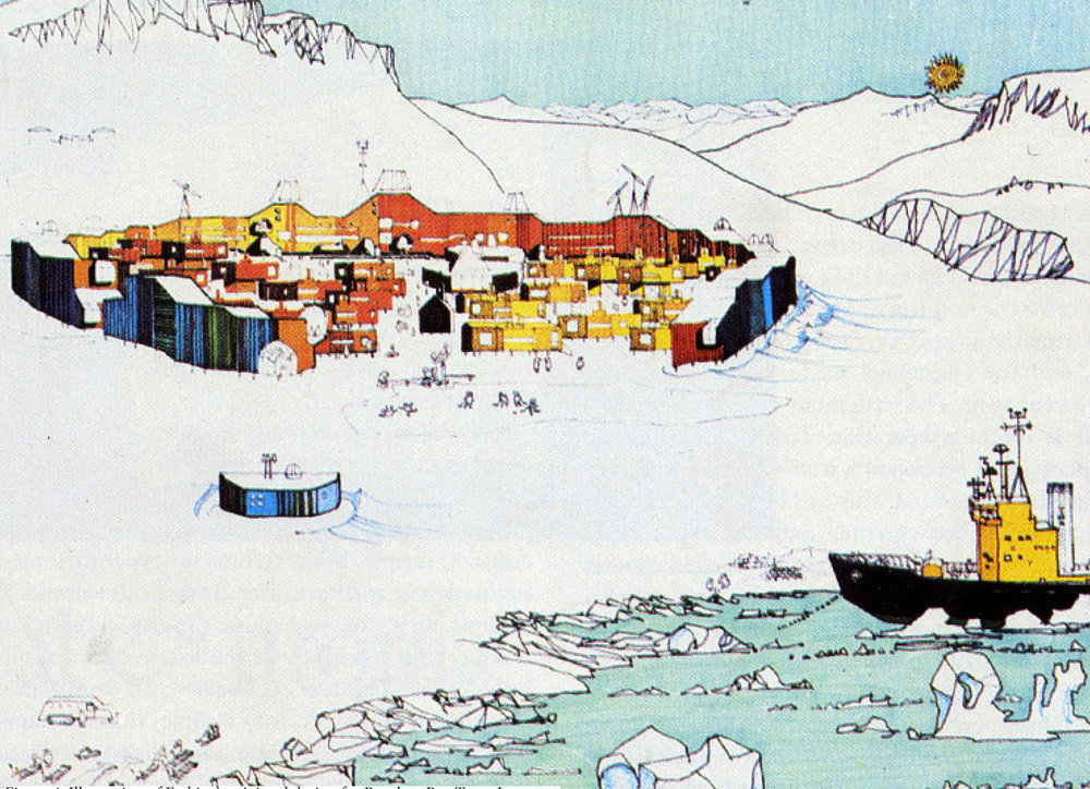Figure 4: Illustration of Erskine's original design for Resolute Bay Town Layout.