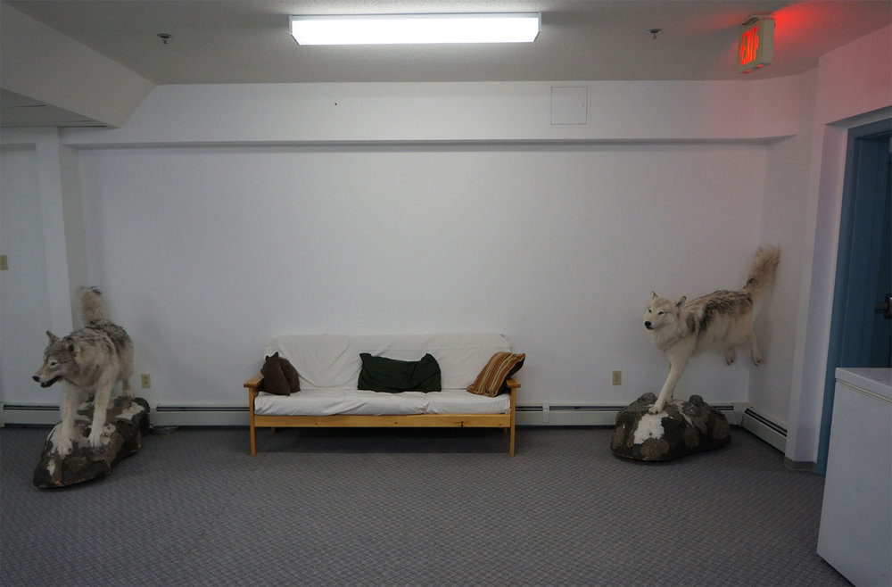Figure 13: South Camp Inn meeting room. New addition. Resolute Bay, NU