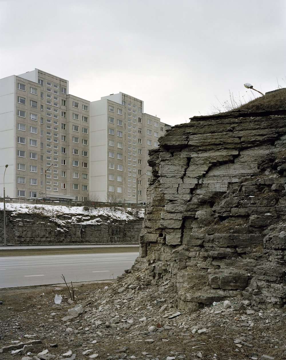 Half of all Estonia's housing was nationalized after WWII. Before the war, Estonia's standard of living and economy was similar to Finland's. Tallinn V, David Grandorge, 2016