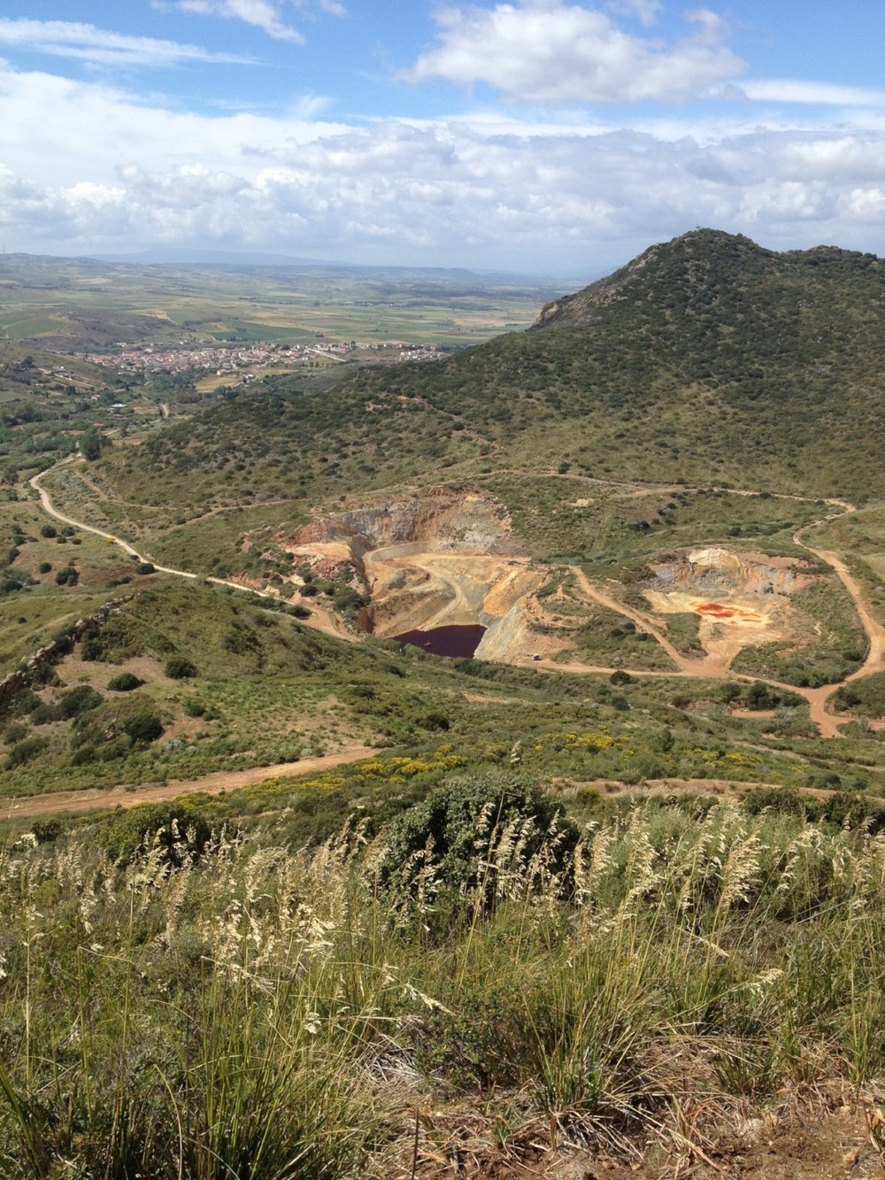 Image 2: Pit, Furtei, & the Campidano Plain, 2016. Photograph by Christopher Alton