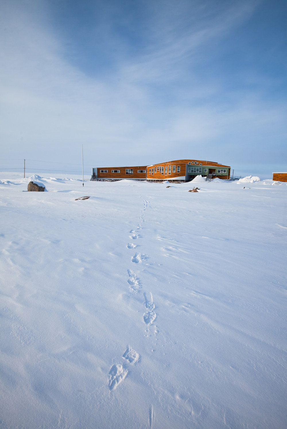 Piqqusilirivvik Inuuit Cultural Learning Facility, Clyde River, Nunavut. Harriet Burdett-Moulton for Santec Architects, 2012. Photograph by Dave Brosha