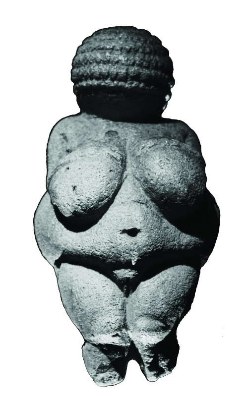 Image 2 / Woman (formerly Venus) of Willendorf, 22–24,000 BCE. Statuette. Museum of Natural History, Vienna
