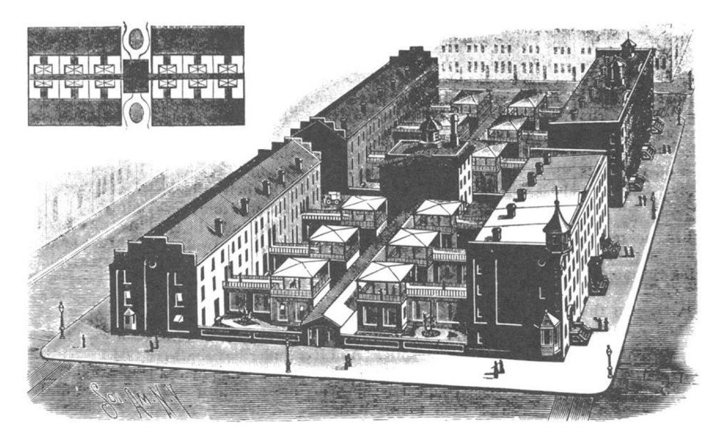 Image 3 / Urban block with 24 kitchenless houses ca. 1890, Philadelphia