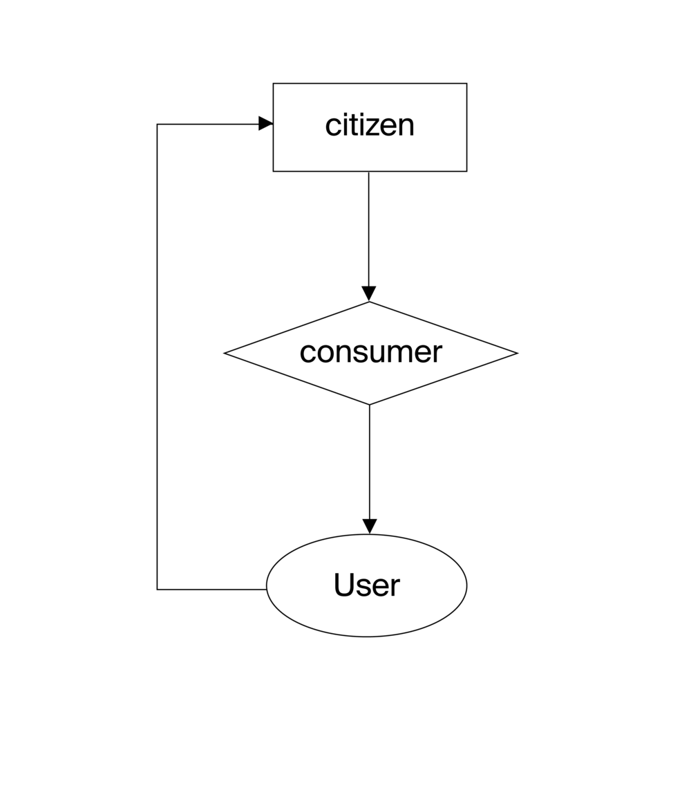Citizen, Consumer, User, 2018. Image by Anastasia Kubrak