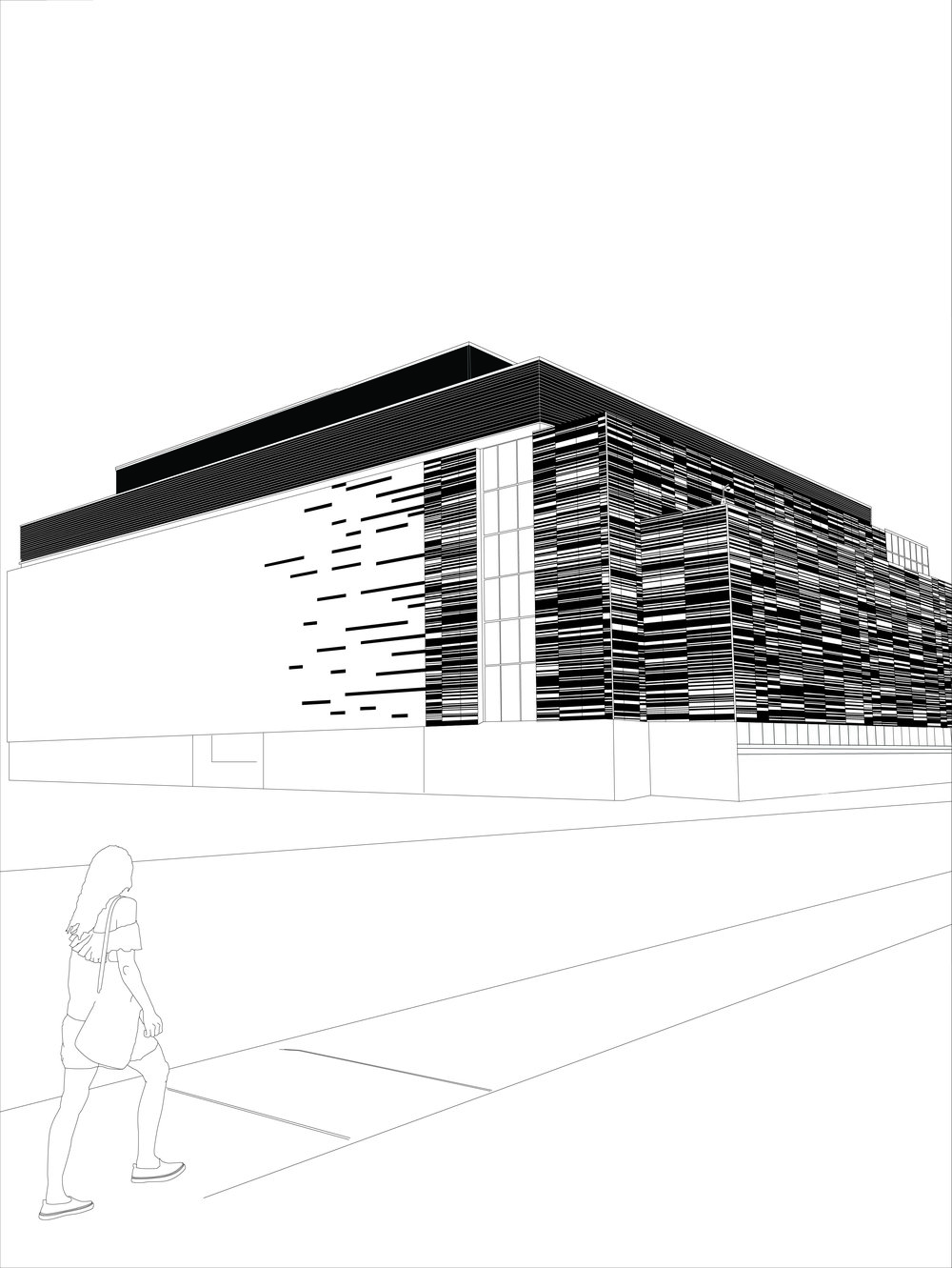 The Equinix Data Centre at 45 Parliament Street. Drawing by Parker Kay