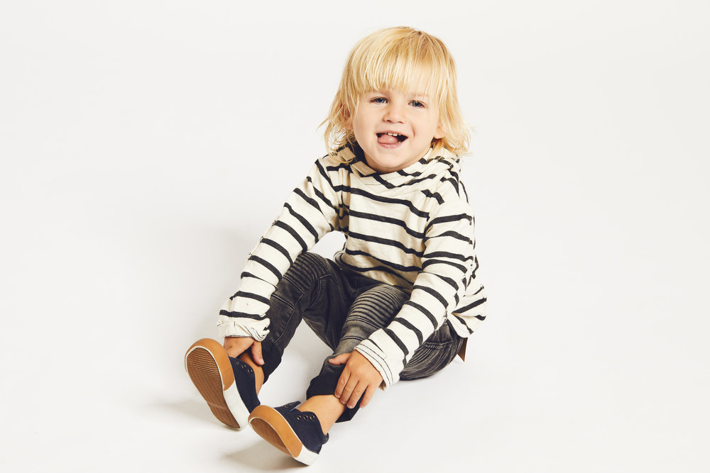 Brandon Tillger looking adorable in Zara kid outfit styled by Vanessa Popoli from Plutino Group