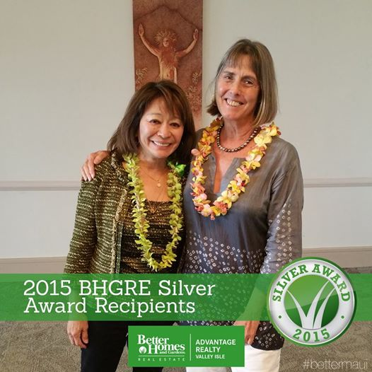 CHERIE WON THE BETTER HOMES AND GARDENS REAL ESTATE OUTSTANDING SALES ACHIEVEMENT 2014 AND 2015 — WITH LESLIE ANN YOKOUCHI, OWNER OF BETTER HOMES AND GARDENS REAL ESTATE ADVANTAGE REALTY VALLEY ISLE