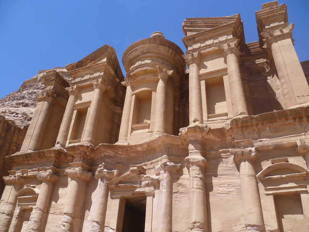The 2000-year-old Monastery at Petra, Jordan