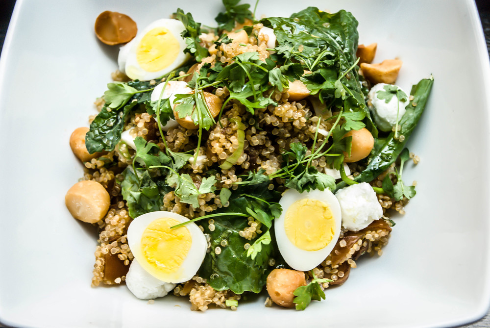 Quinoa Salad with Hard Boiled Eggs