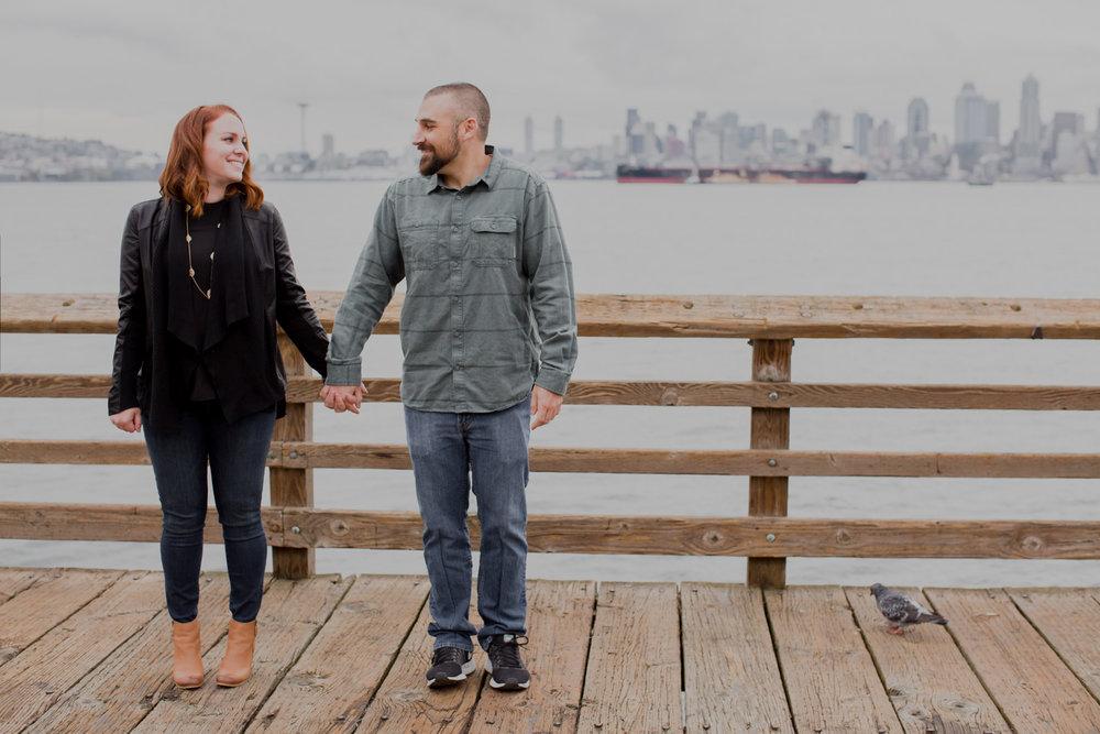 Alki Beach Seattle Waterfront Engagement