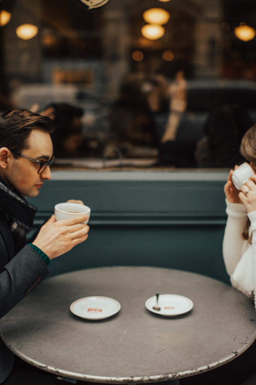 Seattle Coffee Shop Engagement Photos