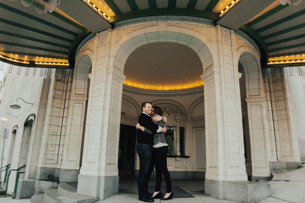 Rialto Theater Tacoma Engagement Photograph by Reese Fergsuon