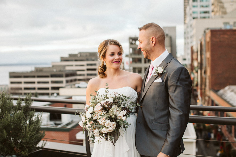 First Look Inn at the Market Seattle Wedding by Reese Ferguson