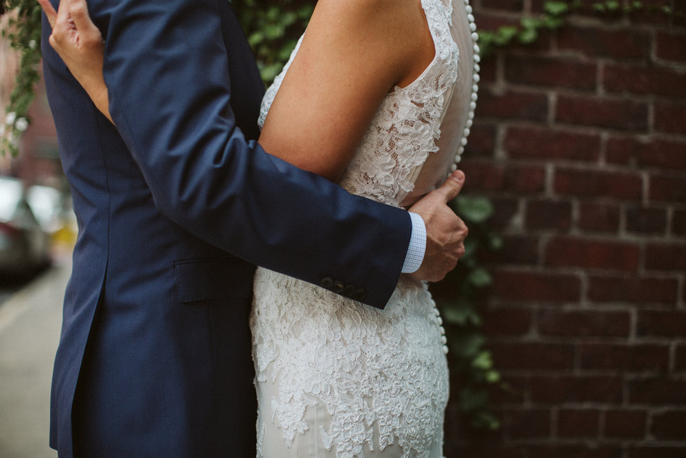 First Look Seattle Wedding Pioneer Square BHLDN Bride Groom Nordstrom Penguin Photos by Reese Ferguson