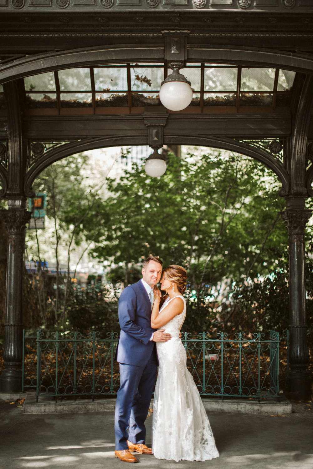 Seattle Wedding Pioneer Square BHLDN Bride Groom Nordstrom Penguin Photos by Reese Ferguson