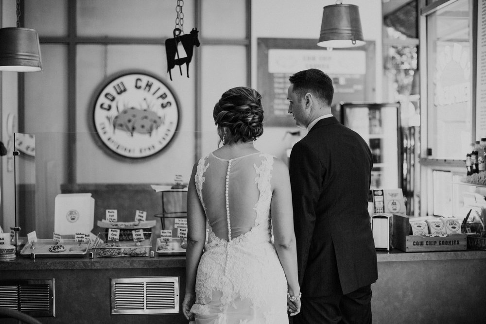 Cow Chip Cookies Seattle Wedding Pioneer Square BHLDN Bride Groom Nordstrom Penguin Photos by Reese Ferguson