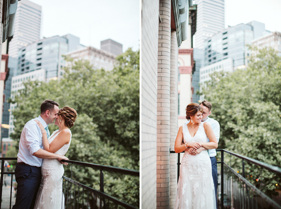 Seattle Wedding, Boho Bride BHLDN Bridal Gown Pioneer Square photos by Reese Ferguson