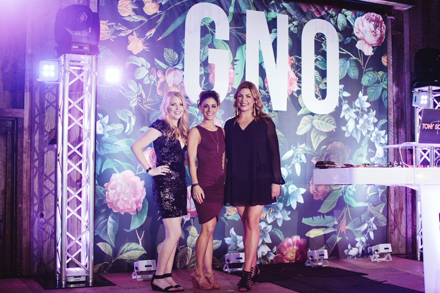 Crystal, Erica and Callie. The lovely and talented founders of GNO.