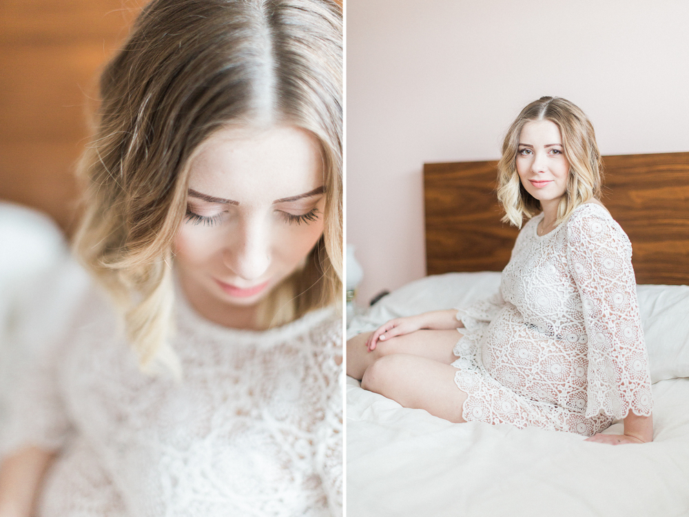 calgary-maternity-photography-at-home-bed-white-lace-dress-1.jpg