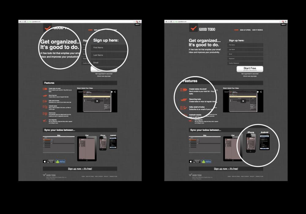 Previous Website Screenshots