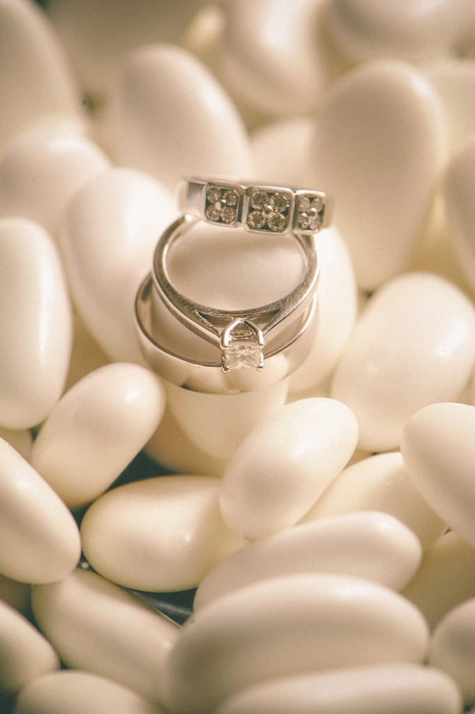 san   diego wedding photographer | rings placed on tictacs