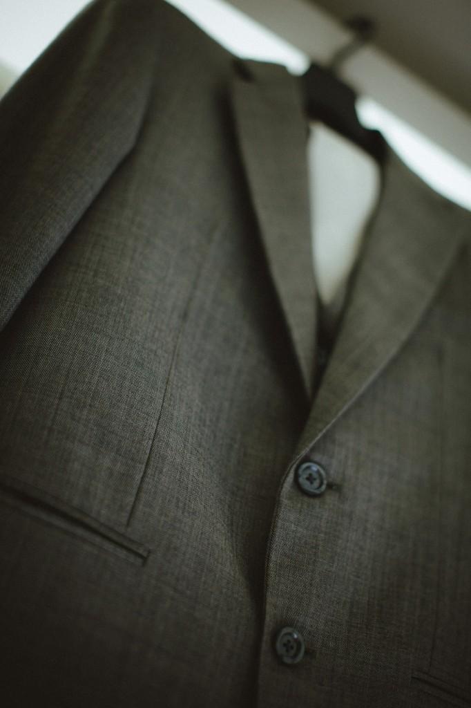san   diego wedding photographer | closeup of grey coat