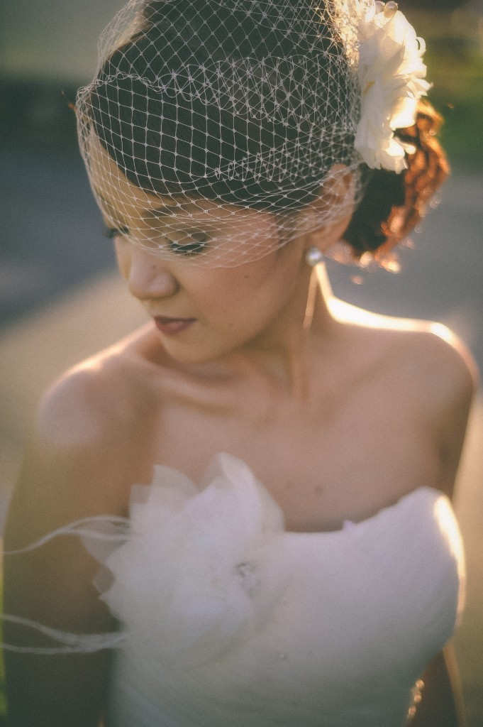 san   diego wedding photographer | woman in white dress and mesh veil