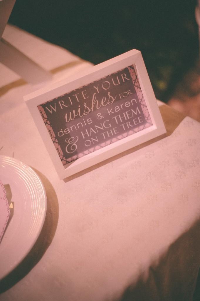 san   diego wedding photographer | closeup of frame with text inside