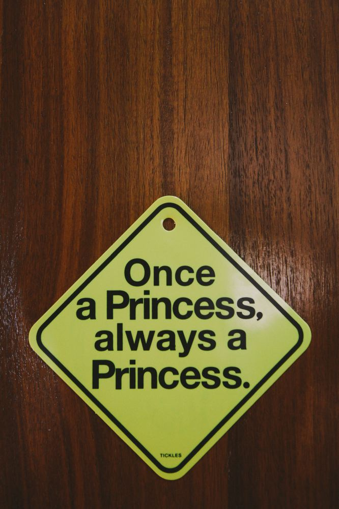 san   diego wedding photographer   sign on door that says once a princess always a   princess
