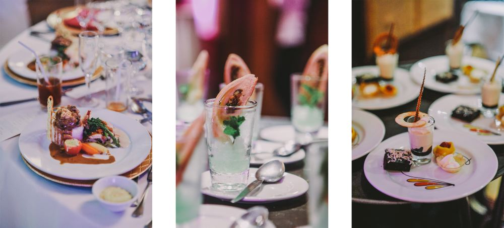 san   diego wedding photographer   collage of table with several dishes