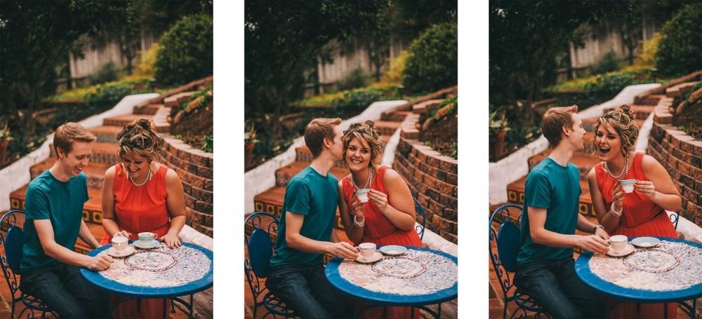 san   diego wedding photographer | collage of man and woman having tea