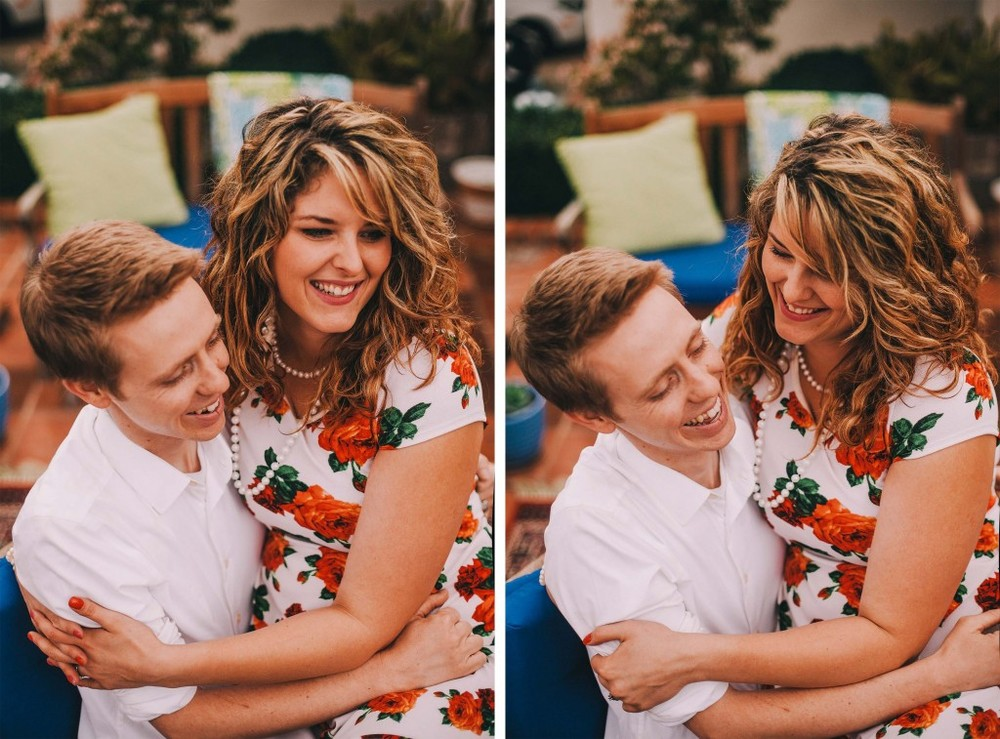 san   diego wedding photographer | collage of man in white shirt with woman in   floral dress sitting on his lap