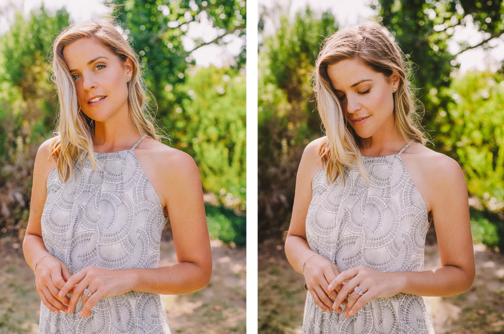 san   diego wedding photographer | collage of blonde woman with blue eyes standing   with hands together showing off ring