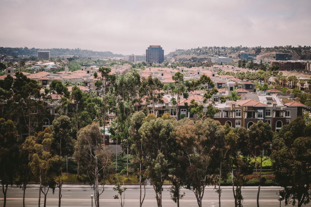 san   diego wedding photographer | top view of rural area with trees