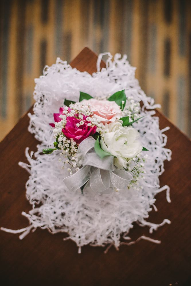 san   diego wedding photographer | flower arrangement with pink, fuschia, and white   flowers