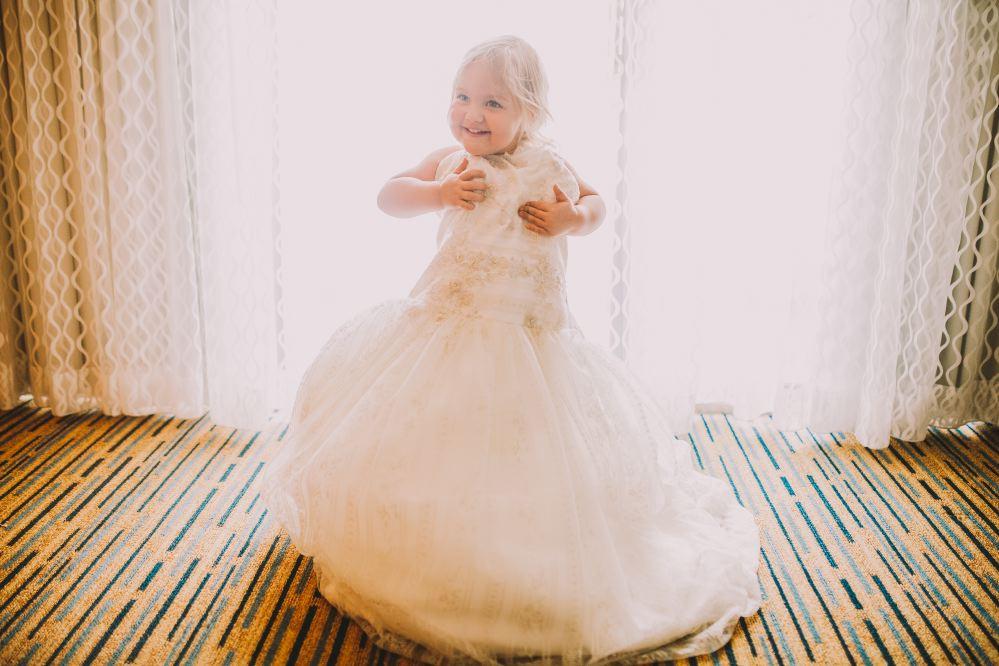 san   diego wedding photographer | child in a fluffy dress