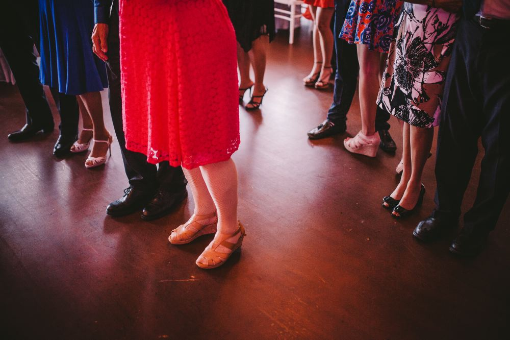 san   diego wedding photographer | shot of crowd's feet on dance floor