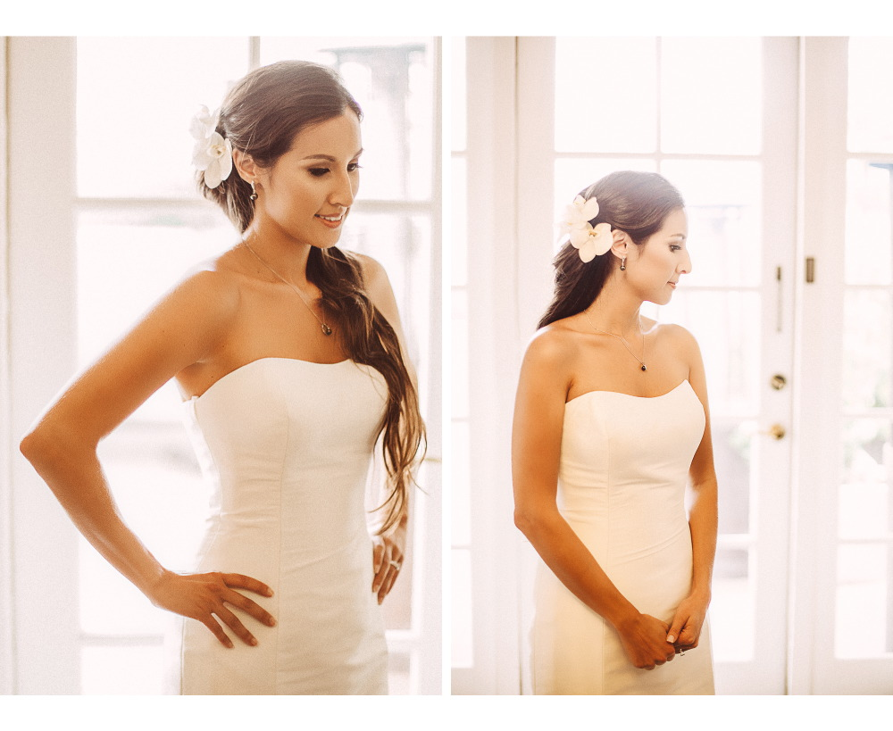 san   diego wedding photographer | bride to be in white dress with white flowers in   hair