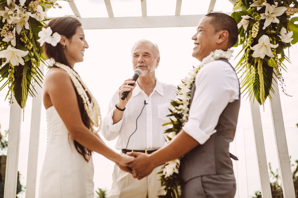 san   diego wedding photographer | couple with lay around their necks laughing