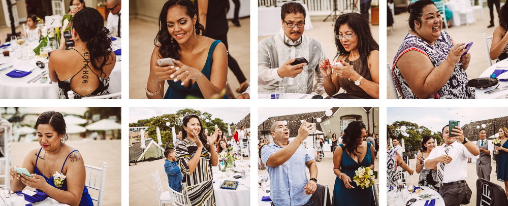 san   diego wedding photographer | collage of wedding guests