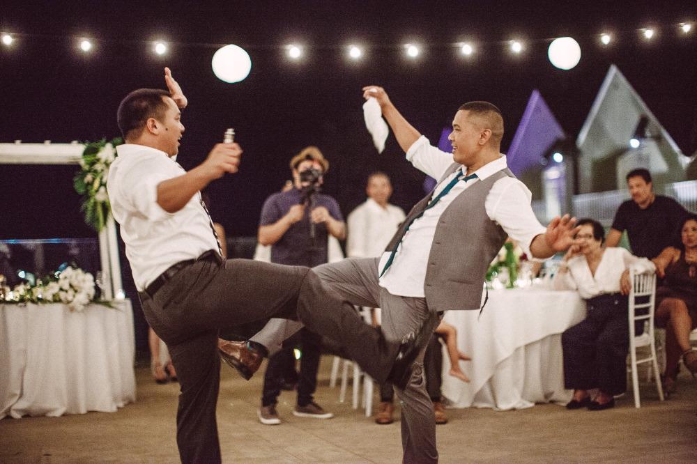 san   diego wedding photographer | men dancing together on dance floor