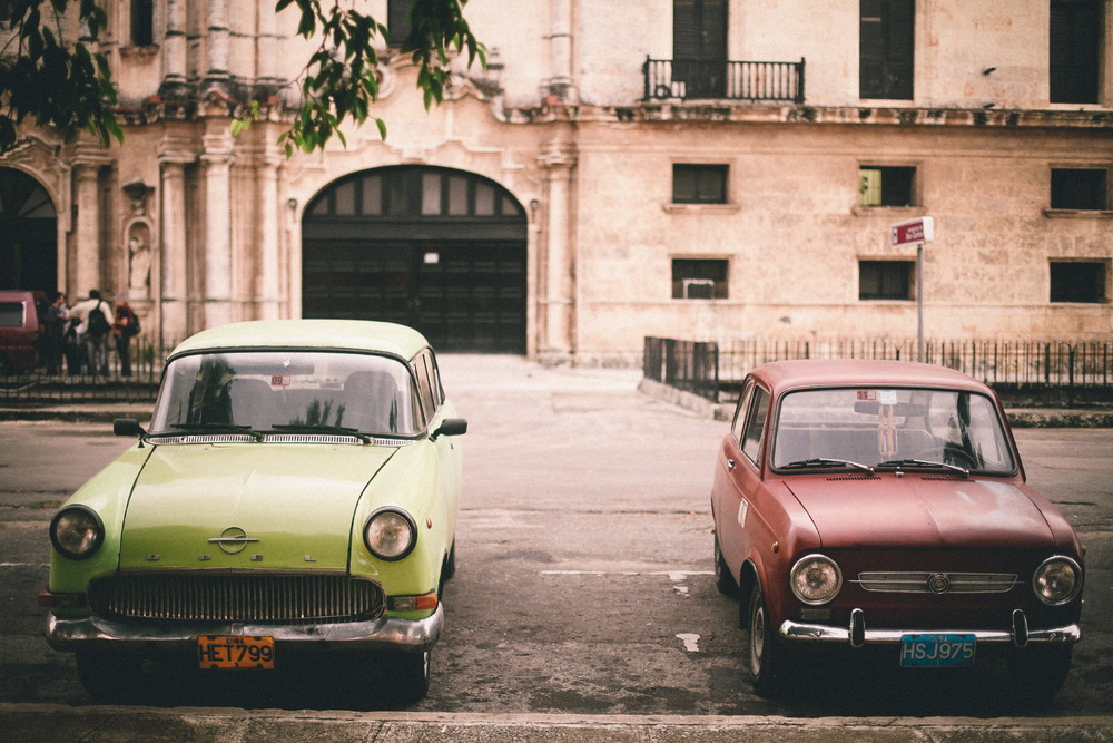 san diego wedding   photographer | old apple green and burgundy cars parked by curb