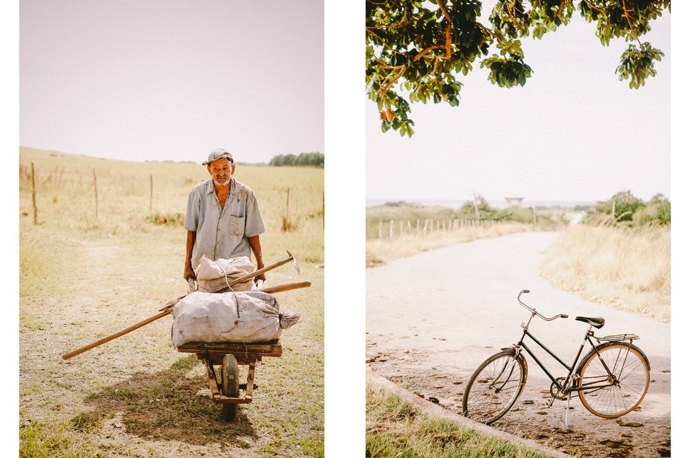 san diego wedding photographer | collage of man pushing wheelbarrow and bike