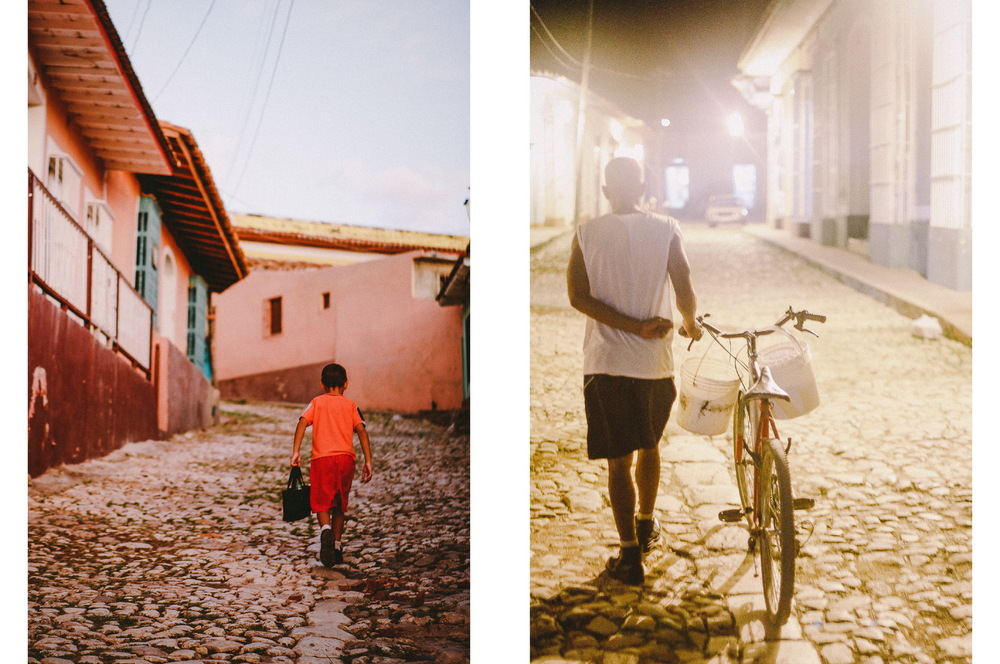 san diego wedding   photographer | collage of boy in orange shirt walking away with man with bike