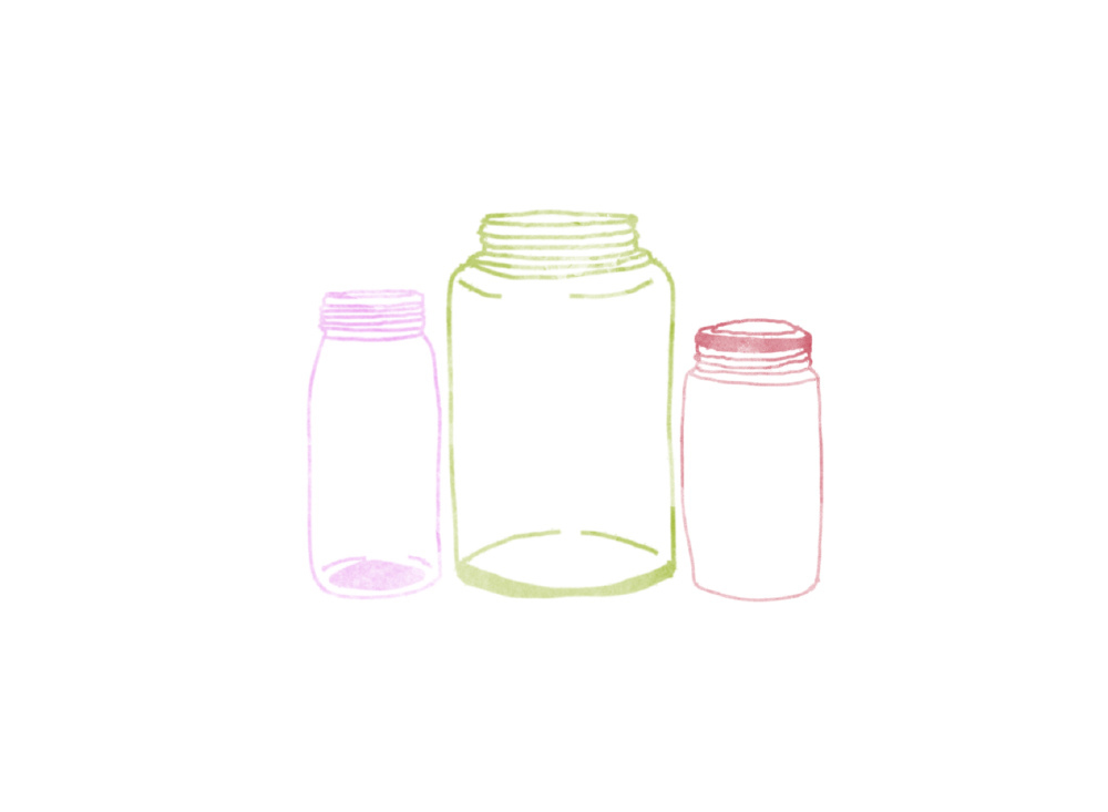 san diego wedding   photographer | sketch of 3 jars