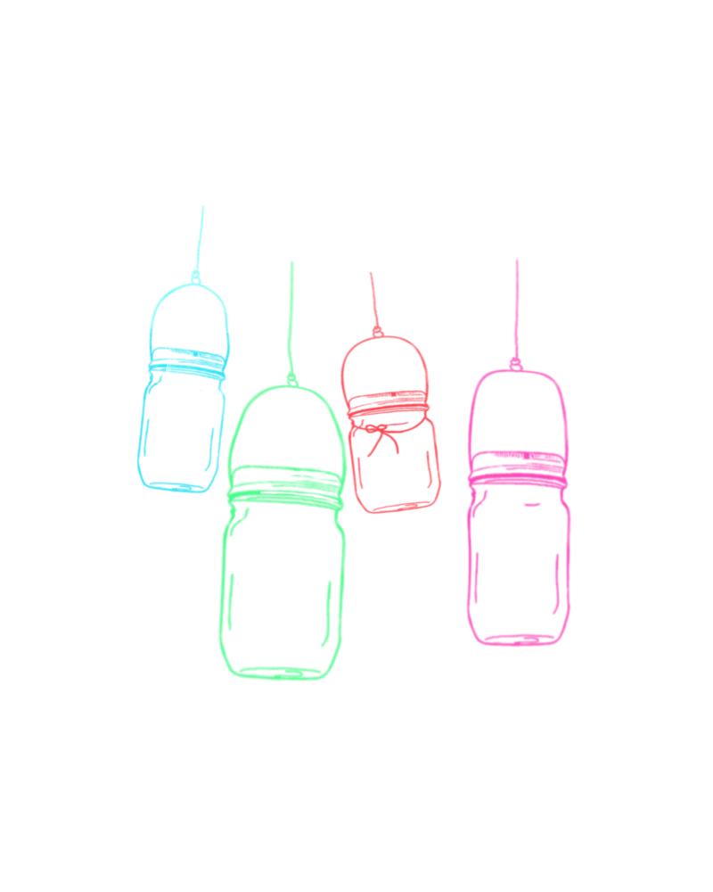 san diego wedding   photographer   sketch of jars hanging on wire