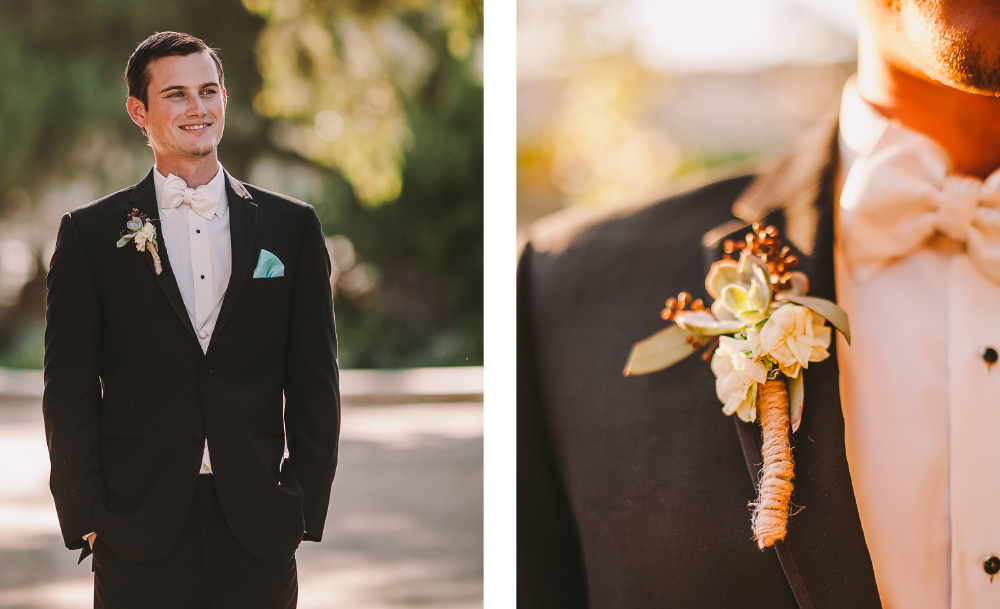 san diego wedding   photographer | collage of man in suit with brooch