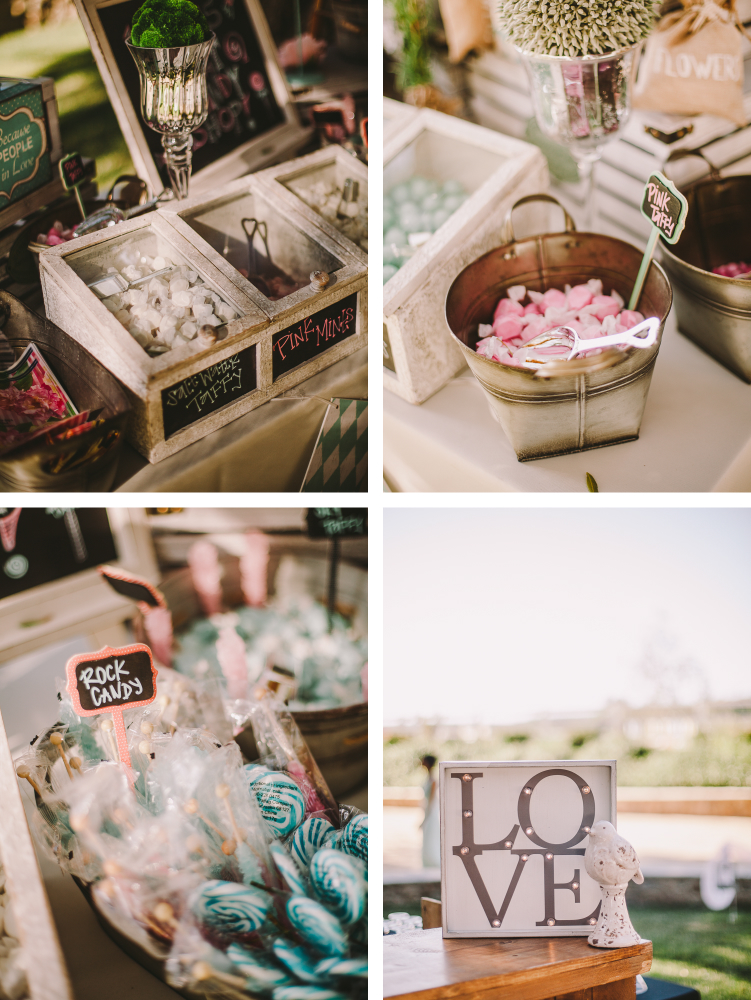 san diego wedding   photographer | collage of closeup of table full of sweets